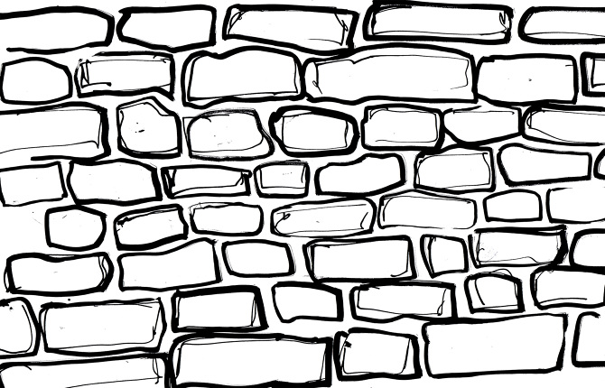 brick wall drawing black and white white brick wall drawing sketch coloring page 313